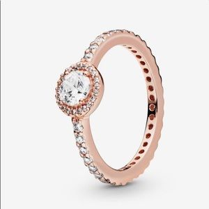 Pandora Classic Rose Gold Halo Ring